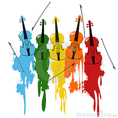 Violins background
