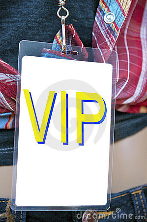 Vip backstage pass card
