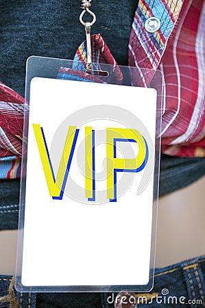 Vip backstage pass card