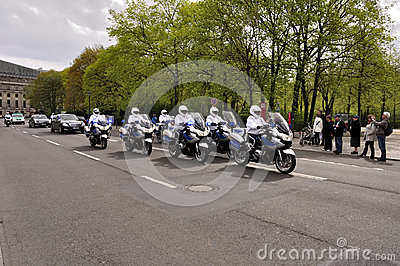 VIP escort Editorial Stock Image