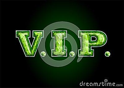VIP. letter diamond