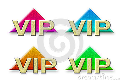 Vip made ​​of paper