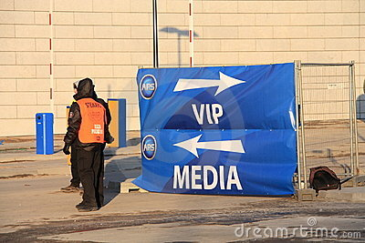 Vip and media gate Editorial Stock Image