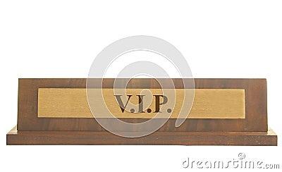 VIP name plate
