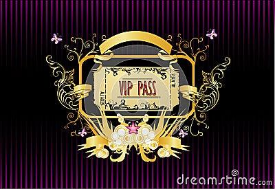 Vip pass vector