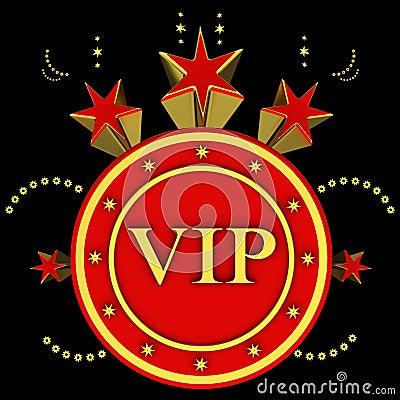 VIP on stars background