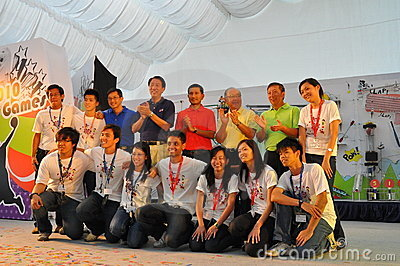 VIPs and organizers of the YOG CAN! Event Editorial Photo