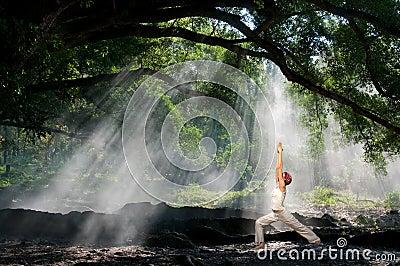 Virabhadrasana, hatha yoga