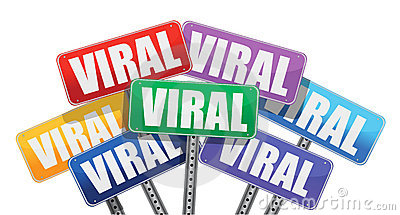 Viral marketing signs concept design