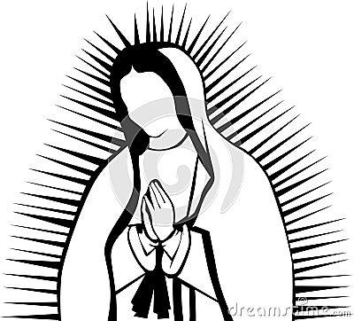 Me Gusta La Clase De Religión Virgencita De Guadalupe Para Colorear