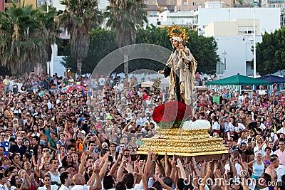 Virgen del Carmen Editorial Photo