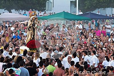 Virgen del Carmen Editorial Stock Photo