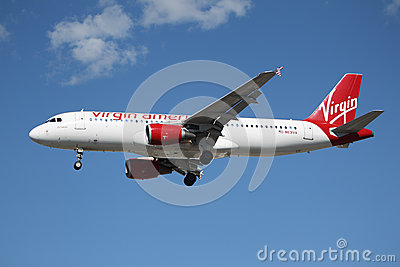 Virgin America Airbus A320 Editorial Image