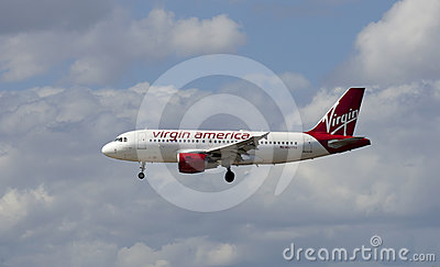 Virgin American Passenger Jet Airliner Editorial Stock Photo
