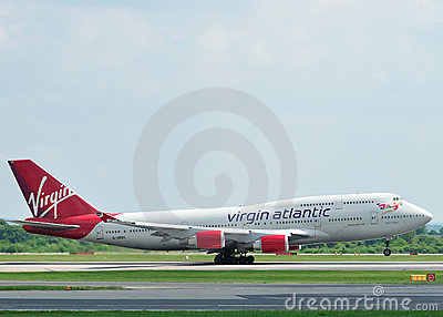 Virgin Atlantic Boeing 747 Editorial Stock Photo