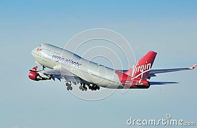 Virgin Atlantic Boeing 747 Editorial Stock Photo