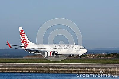 Virgin Australia Boeing 737 jet Editorial Stock Photo