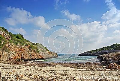 Virgin beach in Majorca (Spain)