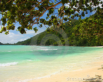 Virgin beach Seychelles