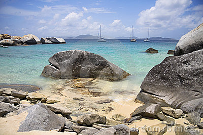 Virgin Gorda rocky shoreline