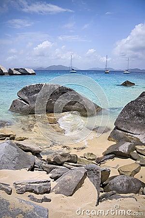 Virgin Gorda rocky shoreline