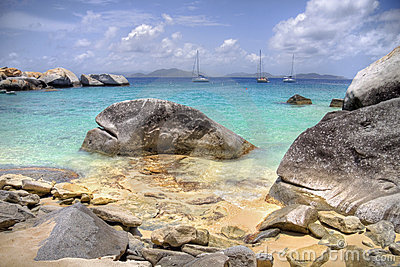 Virgin Gorda stone shoreline