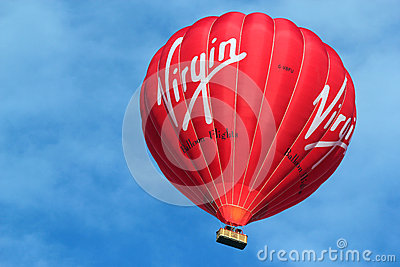 Virgin hot air balloon. Editorial Photography