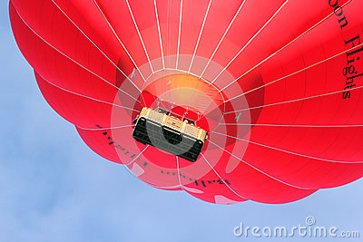 Virgin hot air balloon close up. Editorial Photography