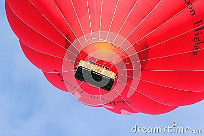 Virgin hot air balloon close up. Editorial Photography