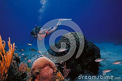 VIrgin Islands Caribbean Scuba Girl