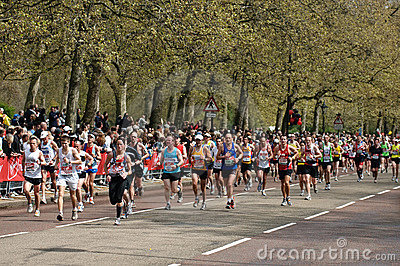 Virgin London marathon Editorial Image