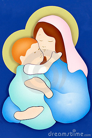 Free Virgin Mary And Child Stock Photography - 7805322