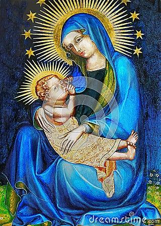 Free Virgin Mary And Jesus Stock Photos - 37201623