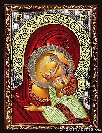 Free Virgin Mary And Jesus Stock Image - 38519731