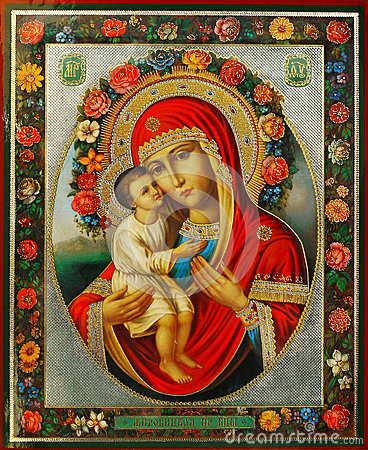 Free Virgin Mary And Jesus Royalty Free Stock Photo - 40086975