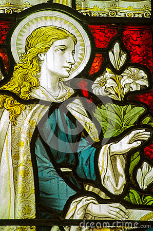 Virgin Mary Annunciation Window