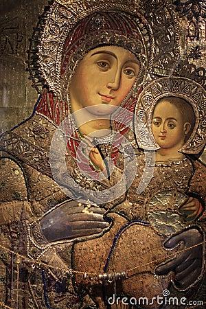 Virgin Mary Of Bethlehem Icon Royalty Free Stock Images ...