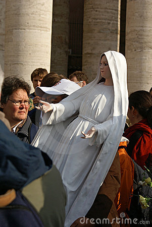 Virgin Mary carried by man, Vatican Editorial Image