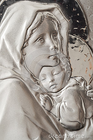 Virgin Mary e bambino Jesus