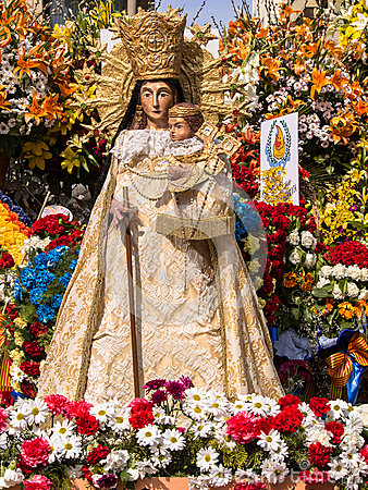 Virgin Mary Flower Scu...