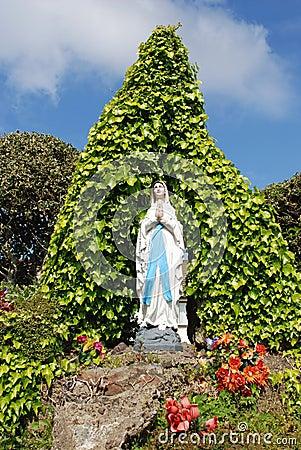 Virgin Mary Grotto Stock Image