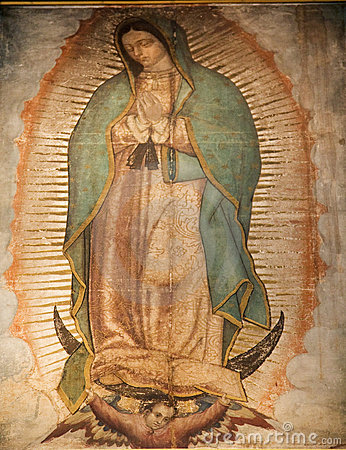 Free Virgin Mary Guadalupe Painting Shrine Mexico City Royalty Free Stock Photo - 4377185