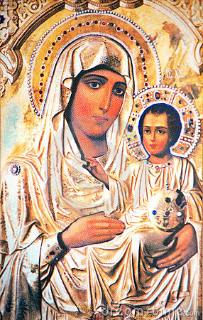 Virgin Mary with Jesus icon
