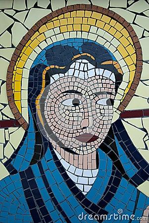 Free Virgin Mary Mosaic Stock Photo - 18975050
