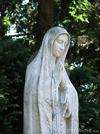 Virgin Mary with Rosary