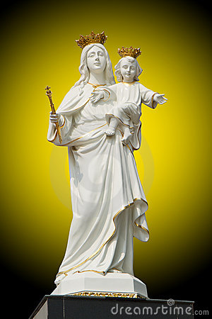 Free Virgin Mary  With Baby Jesus Royalty Free Stock Images - 22355239