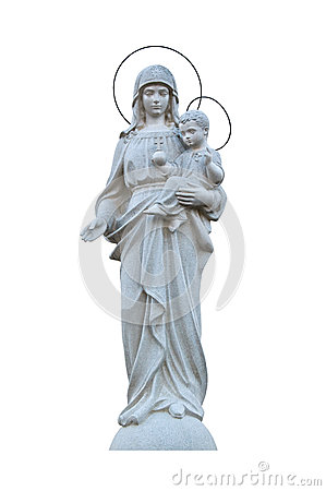 Free Virgin Mary With Jesus Stock Images - 40874594