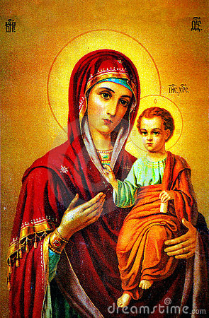Free Virgin Mary With Jesus Icon Royalty Free Stock Image - 7716866