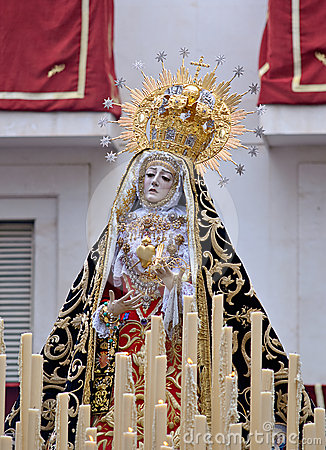 Virgin of pains