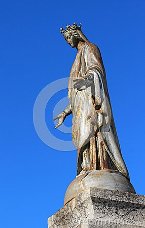 Virgin statue, Grand-Bornand, France